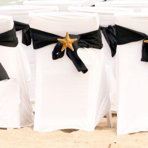 Covered sashed starfish chairs